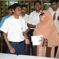 """Class 11 students of"""" Sunnydale School, Dhaka"""" have recorded Oxford English to Bengali pocket dictionary for visually impaired students of Dhaka University."""
