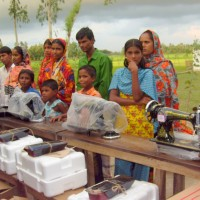 These families are poor villagers with less monthly earning, unable to send their kids to school and slandered of life style was lower. These four women previously got trained up from local trainer. But couldn't start career for the lack of investment money to buy even a sewing machine. Part of solving Stand-up cases, CA donated these machines.