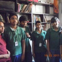 Delhi Public School ( DPS) students who are visiting the school