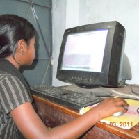 One student from Amader Pathshala, is learning computing! :)